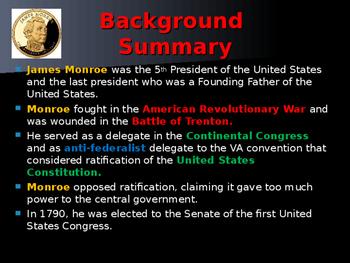 US Presidents - #5 - James Monroe - Summary