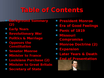 US Presidents - #5 - James Monroe - Summary