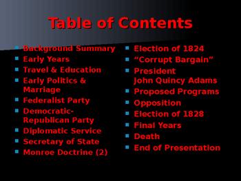 US Presidents - #6 - John Quincy Adams - Summary