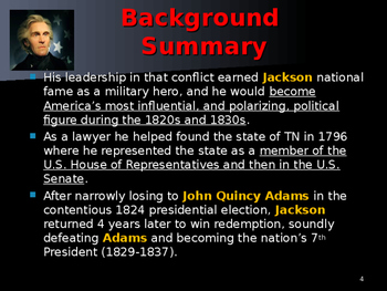US Presidents - #7 - Andrew Jackson - Summary