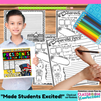 Presidents' Day: Research: Presidents Research Report Writing Activity