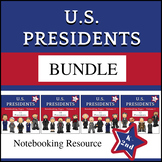 US Presidents BUNDLE for PreK-1st Grade (No Prep)