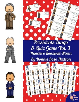 U.S. Presidents Bingo and Quiz Game, Volume 3