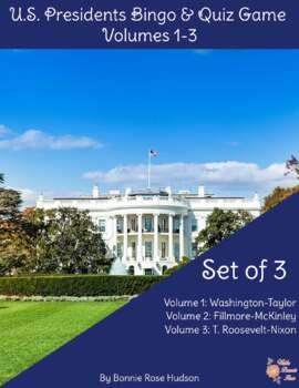U.S. Presidents Bingo and Quiz Game, Volumes 1-3