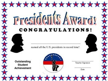 Presidents Certificate
