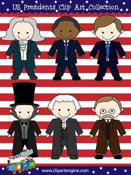 U.S. Presidents Clip Art Collection