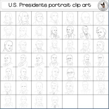 US Presidents Clip Art GROWING BUNDLE