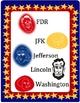 US Presidents Clip Art - Roosevelt, Washington, Jefferson, Lincoln, Kennedy