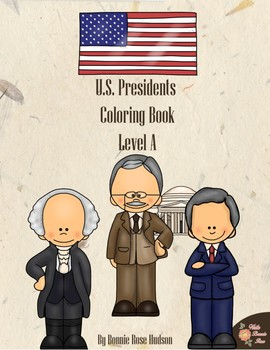 U.S. Presidents Coloring Book-Level A