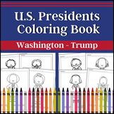 US Presidents Coloring Book (Washington - Obama)