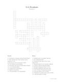 U.S. Presidents Crossword Puzzle (Version 1)