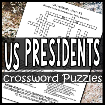 US Presidents Crossword Puzzles Worksheets
