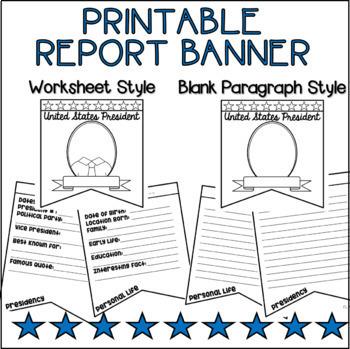 US Presidents Foldable Banner