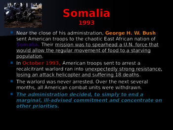 US Presidents - George Bush and the War on Terrorism