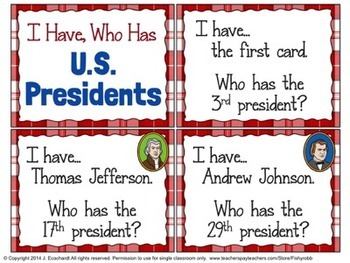 U.S. Presidents I Have, Who Has Game