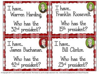 United States Presidents I Have, Who Has Game