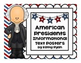 U.S. Presidents Informational Text Posters and Coloring Book