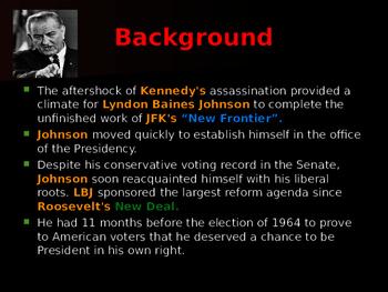 US Presidents - Johnson's Great Society