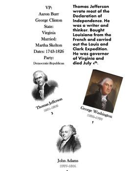 US Presidents Mini Books