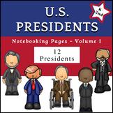 US Presidents (NO PREP) PreK-1st Grade pages - Volume 1
