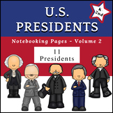 US Presidents (NO PREP) PreK-1st Grade pages - Volume 2