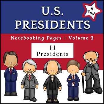 US Presidents (NO PREP) PreK-1st Grade pages - Volume 3