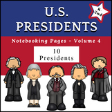 US Presidents (NO PREP) PreK-1st Grade pages - Volume 4
