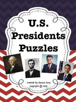 U.S. Presidents Puzzles {44 puzzles!}