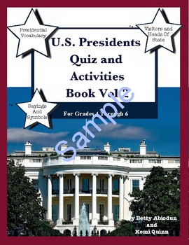 US Presidents Quiz and Activities Book Pack Vol.2