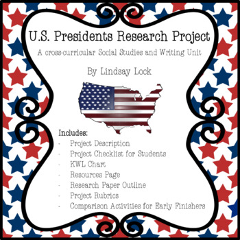 US Presidents Research Project Pack