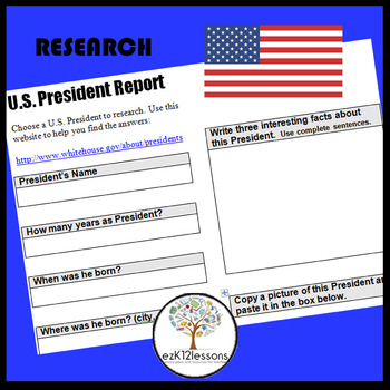 US Presidents Research Report