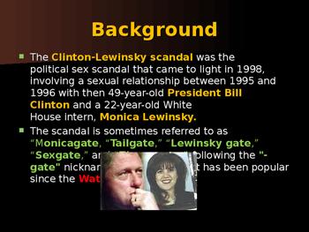 US Presidents - The Clinton-Lewinsky Scandal