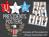 US Presidents Timeline Posters
