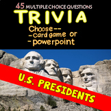 US Presidents Trivia - Card Game or Powerpoint
