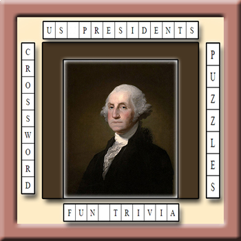 US Presidents Trivia Crossword Puzzle Worksheets Bundle
