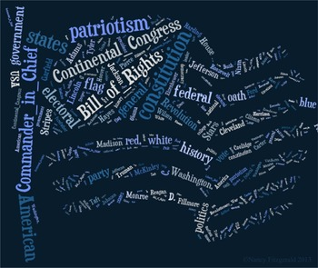 U.S. Presidents Vocabulary image for Classroom Decoration Poster or Sign