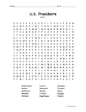 U.S. Presidents Word Search