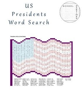 U.S. Presidents Word Search Puzzle Pack
