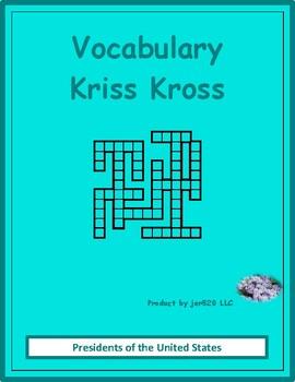 US Presidents Kriss Kross puzzle