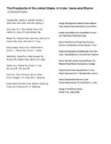 U.S Presidents in Order, Verse and Rhyme Mnemonic