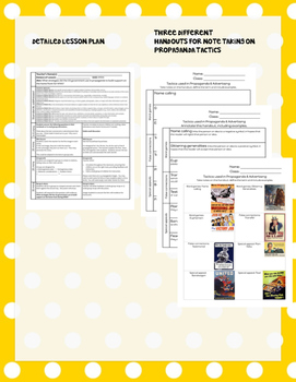 US Propaganda in World War II (WWII)-- Lesson, activity and writing assignment
