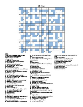 U.S. RIVERS CROSSWORD PUZZLE