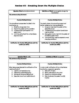 US Regents Skills Review - Constitution Vocab