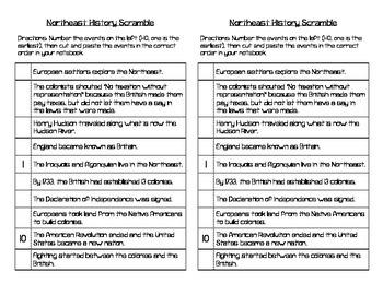 US Region History Scrambles