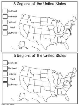 US Region Scrapbook Pages