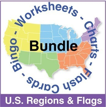 US Regional Maps and Flags Bundle
