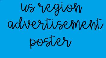 US Regions Advertisement Poster w/rubric