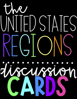 US Regions Discussion Cards Bundle | Over 200 Cards!