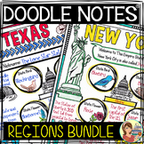 US Regions Doodle Notes Bundle - Social Studies