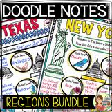 US Regions Doodle Notes Bundle - Social Studies
